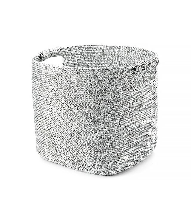 West Elm Metallic Woven Storage Basket