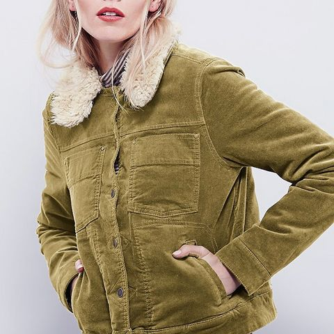 Sherpa Lined Uncut Cord Jacket