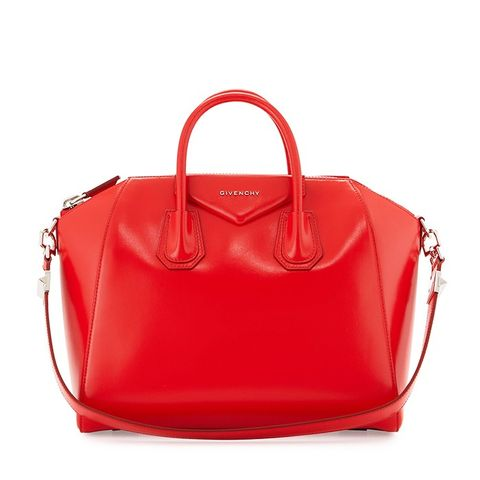 Antigona Medium Satchel Bag, Medium Red