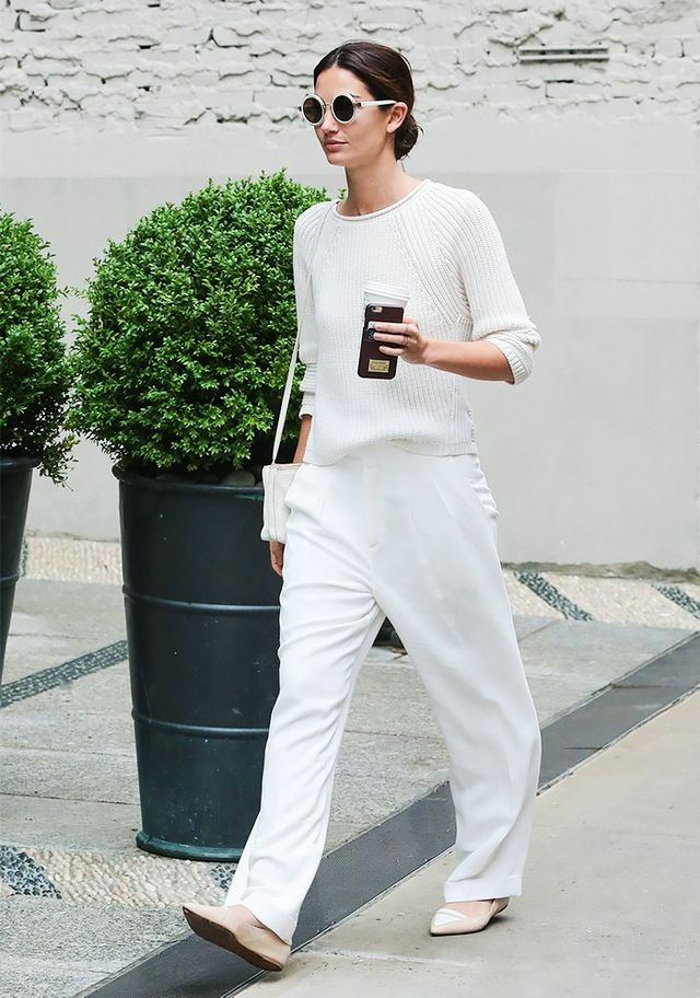 They know that a monochrome outfit will never fail them: