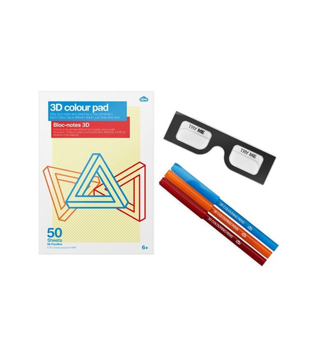 NPW 3D Color Drawing Pad & Markers