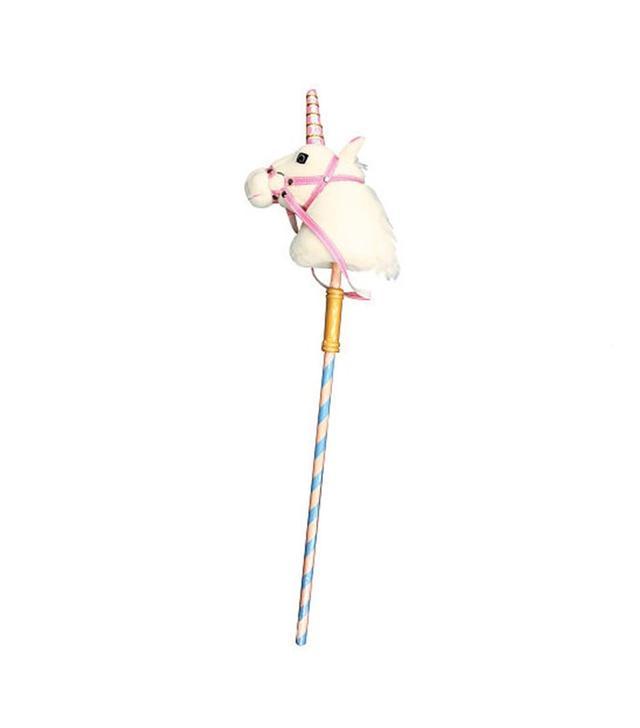 Melissa & Doug Deluxe Plush Prance-n-Play Stick Unicorn