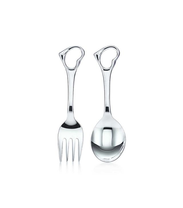 Tiffany & Co. Open Heart Fork and Spoon Set