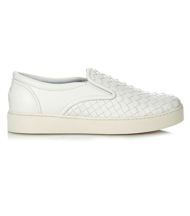 Bottega Veneta Intrecciato-Leather Trainers