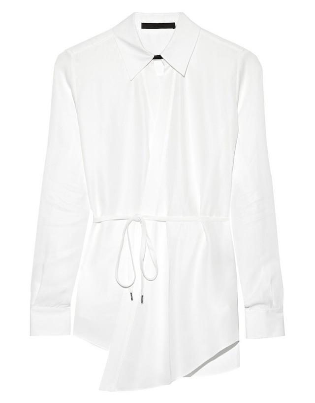 Karl Lagerfeld Nola Poplin Wrap Shirt