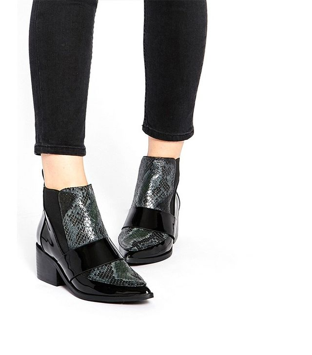 ASOS Run Away Pointed Chelsea Ankle Boots