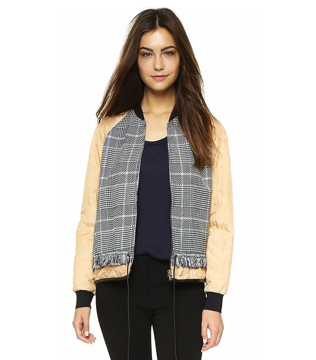 3.1 Phillip Lim Quilted Sleeve Bomber