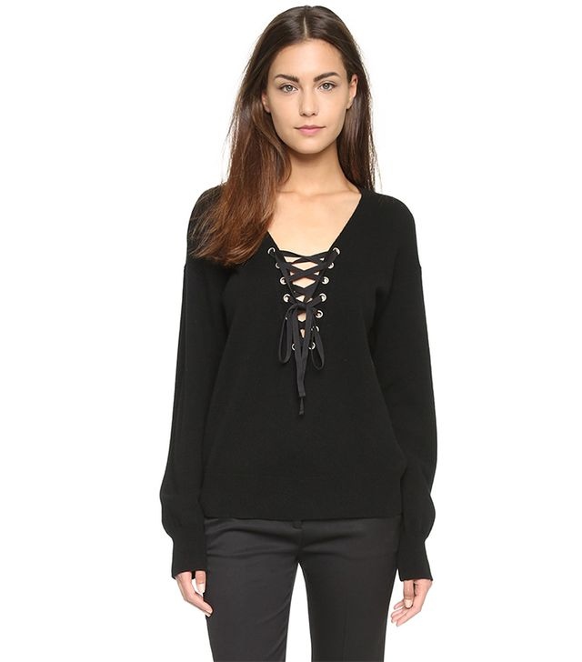 The Kooples Lace Up Sweater