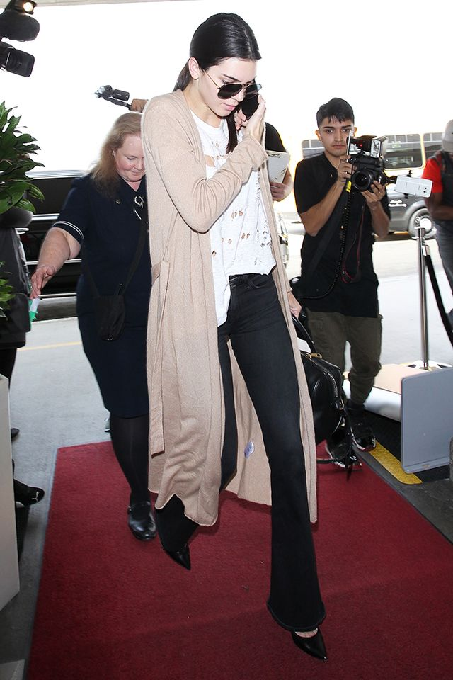 The Long Cardigan: Kendall Jenner
