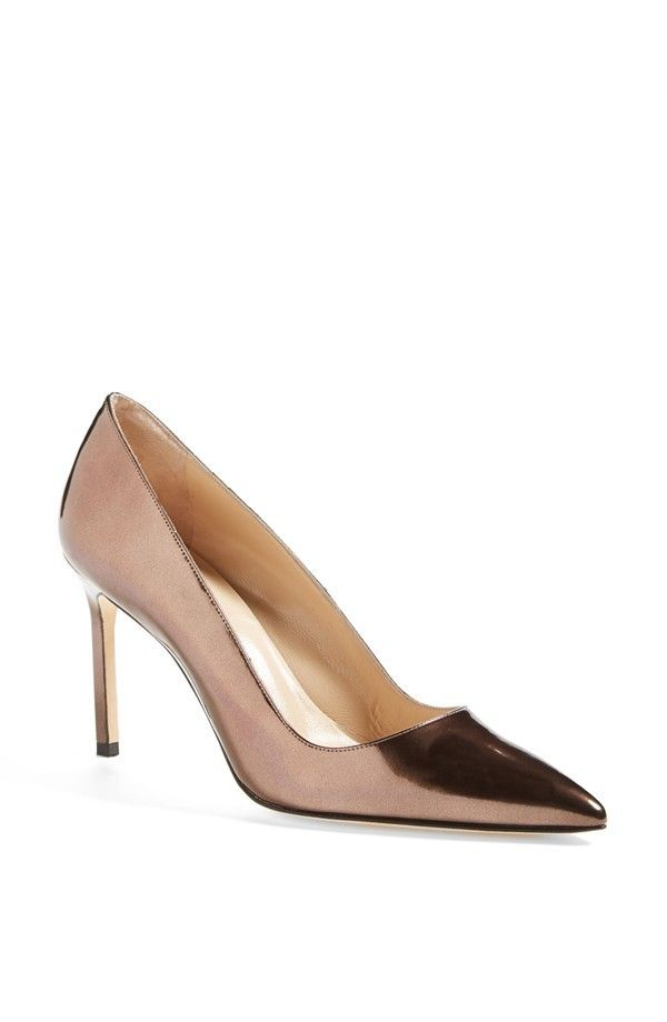 Manolo Blahnik BB Patent Leather Pointy Toe Pumps