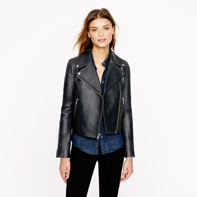 J.Crew Collection Leather Moto Jacket