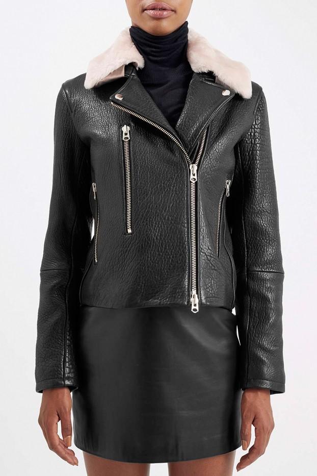 Boutique Toscana Collar Biker Jacket