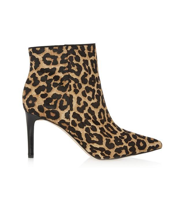 Sam Edelman Karen Leopard-Print Calf Hair Ankle Boots