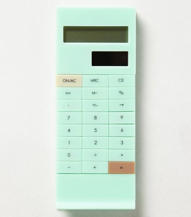 Anthropologie Slip-on Calculator