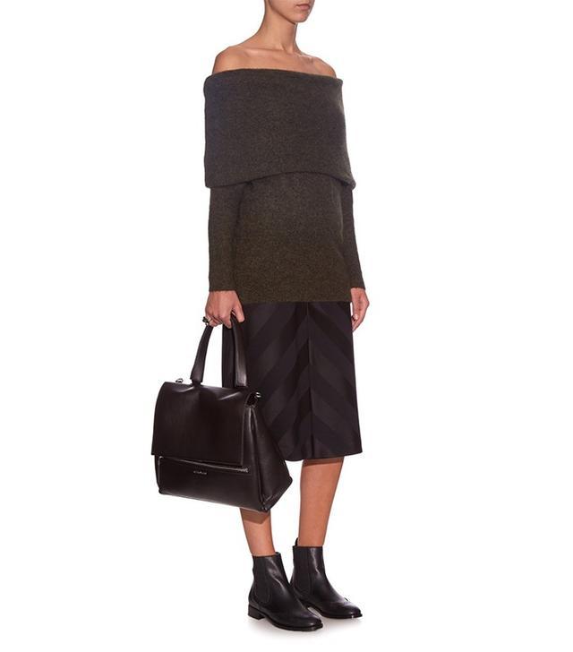 Acne Studios Daze Off-Shoulder Mohair and Wool-Blend Sweater