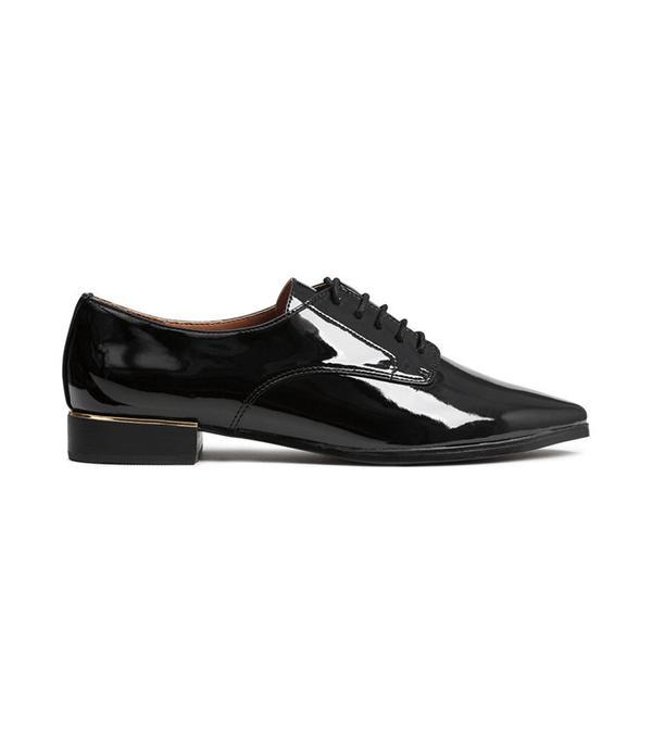 H&M Patent Derby Shoes