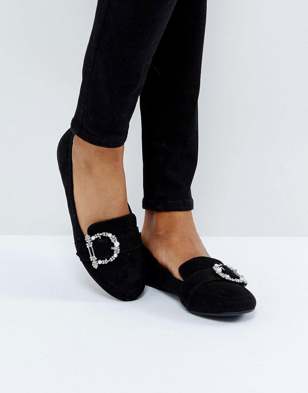 Bedazzled Buckle Loafer