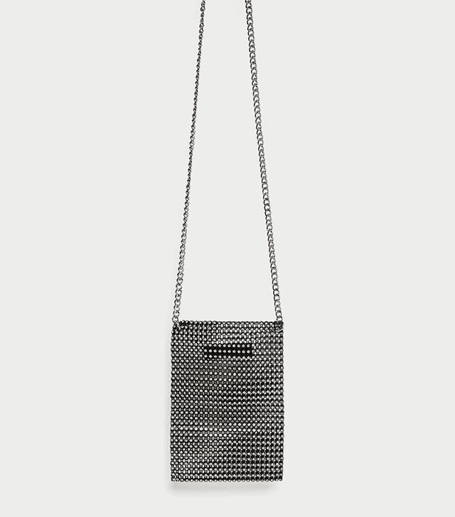 Zara Mesh Mini Crossbody Bag