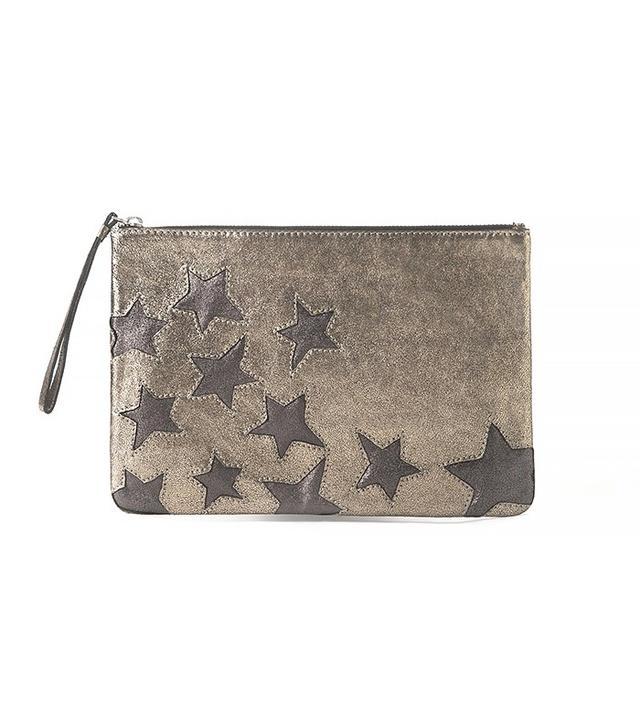 Mango Stars Leather Clutch
