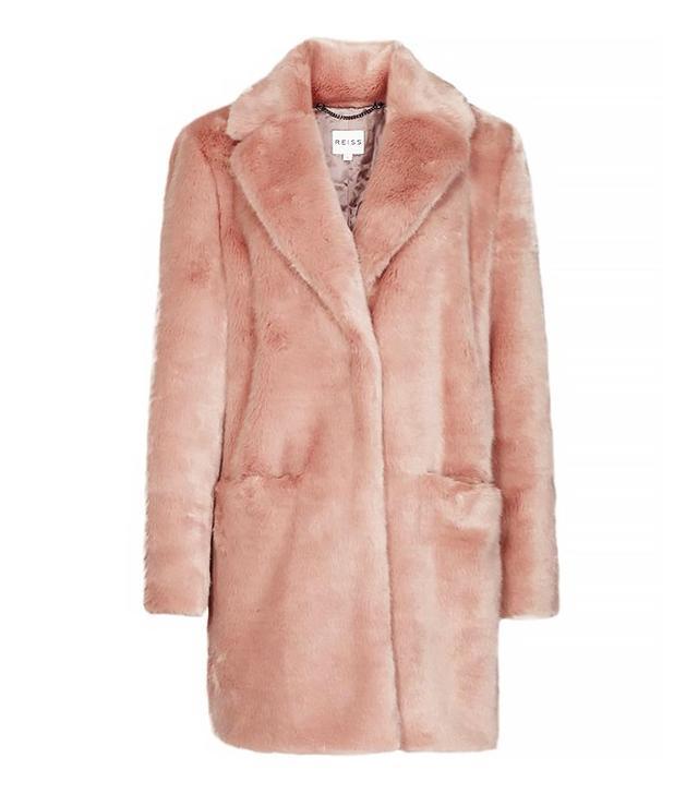 Reiss Faux-Fur Coat