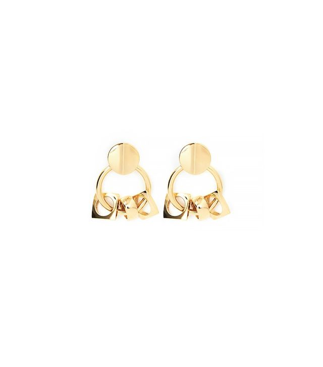 Lizzie Fortunato Retro Gold Earrings