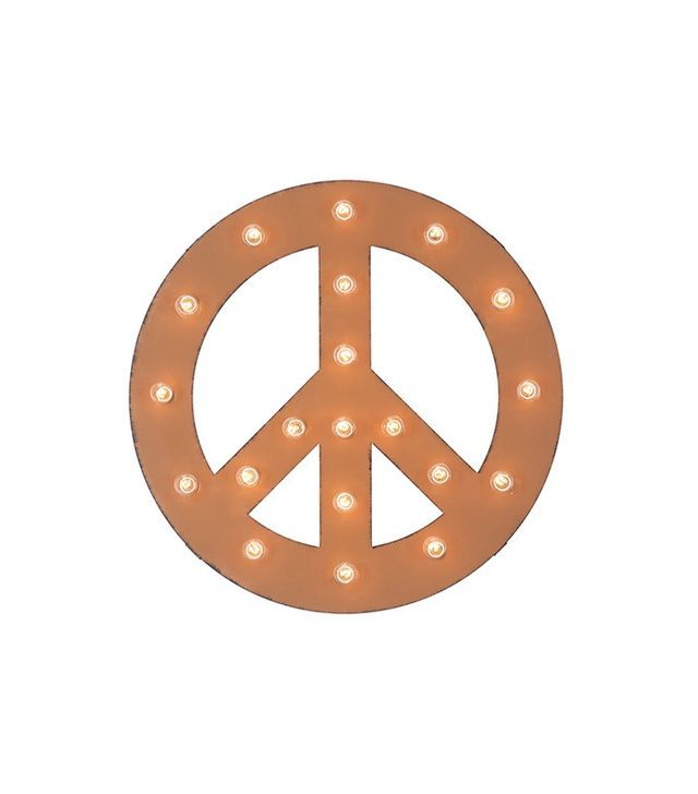 Dot & Bo Peace Sign Marquee Sign