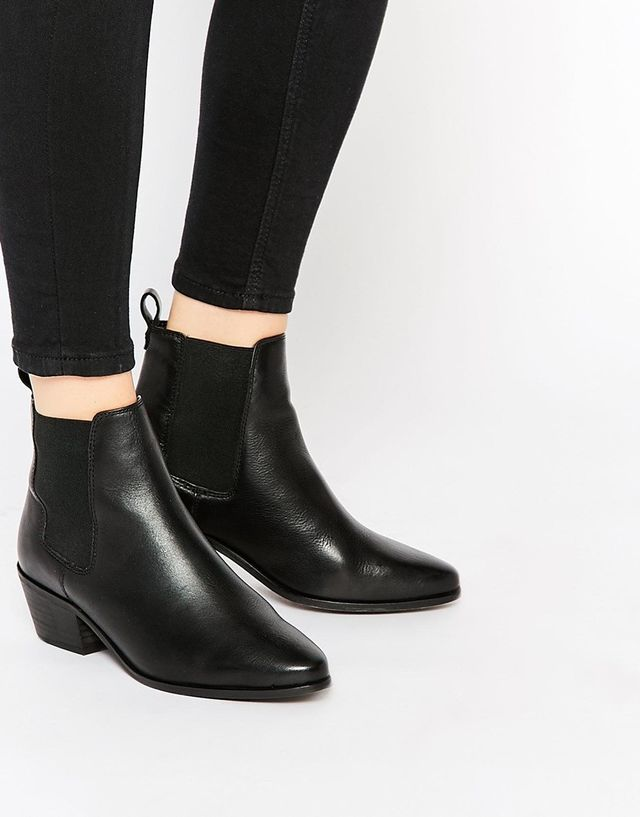 ASOS Black Pointed Chelsea Boots