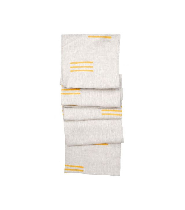 Leif Stacked Lines Table Runner