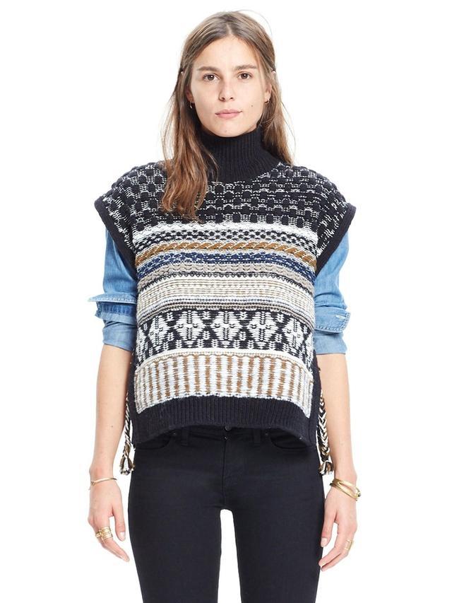 Madewell Side-Tie Sweater-Vest