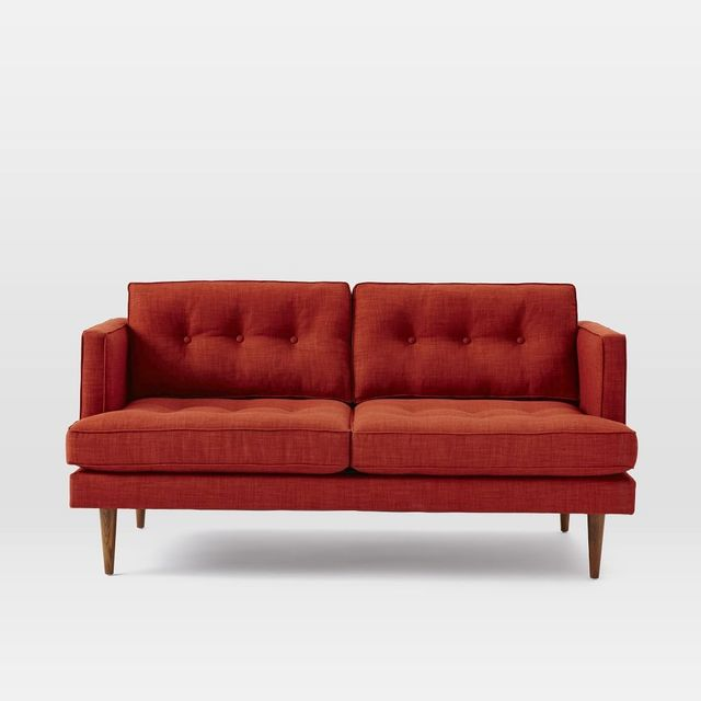 West Elm Peggy Mid-Century Loveseat