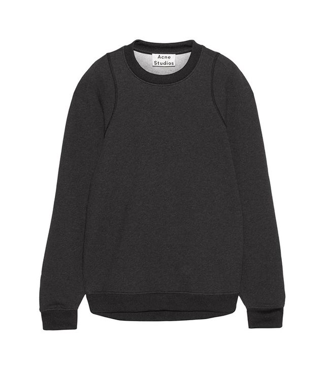 Acne Studios Albina Oversized Jersey-Blend Sweatshirt
