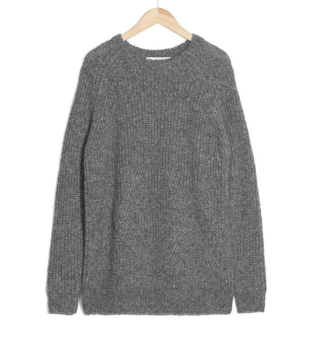 & Other Stories Cross Sweater