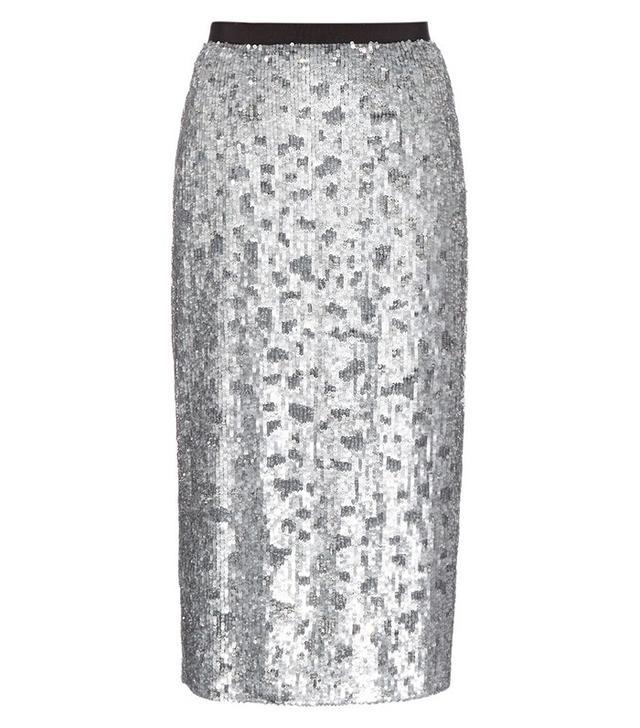 Burberry London Sequin-Embellished Pencil Skirt