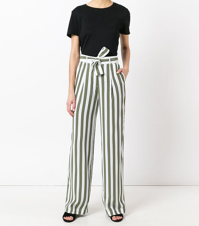 Equipment Stripe High Waisted Trousers
