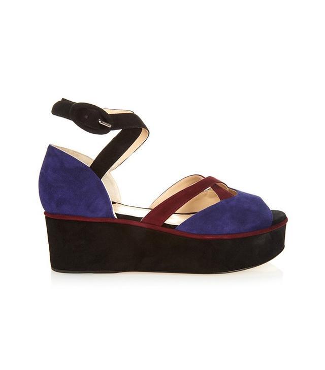 Paul Andrew Noho Suede Flatform Sandals