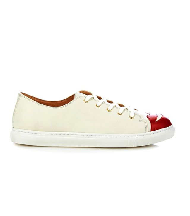 Charlotte Olympia Kiss Me Low-Top Leather Trainers