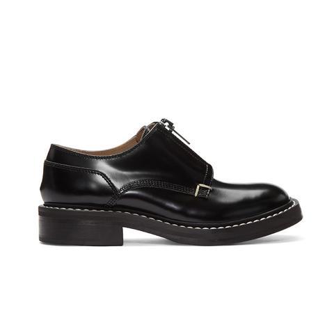Black Saxon Zip Oxfords