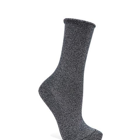Metallic Knitted Socks