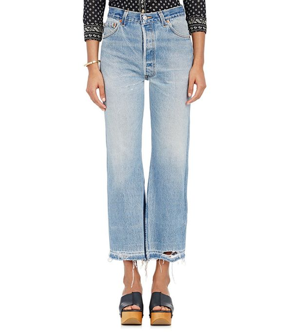 Re/Done The Leandra Crop Flared Jean