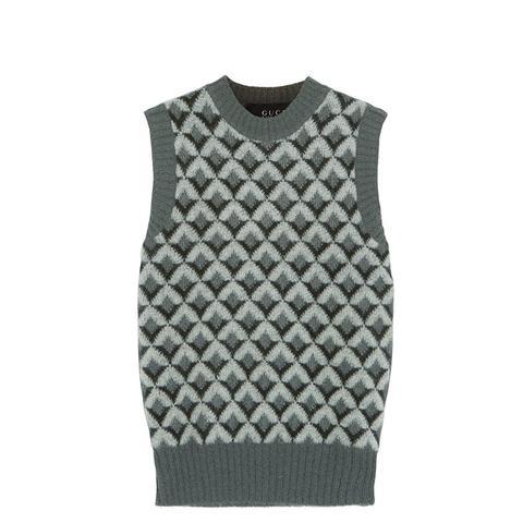 Jacquard-Knit Mohair-Blend Sweater