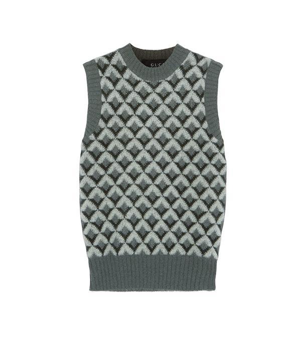Gucci Jacquard-Knit Mohair-Blend Sweater