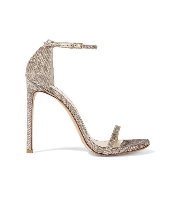 Stuart Weitzman Nudist Metallic Mesh Sandals