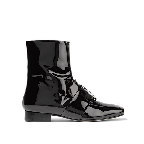 Biturbo Embellished Patent-Leather Ankle Boot