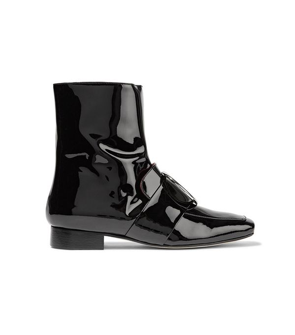 Dorateymur Biturbo Embellished Patent-Leather Ankle Boot