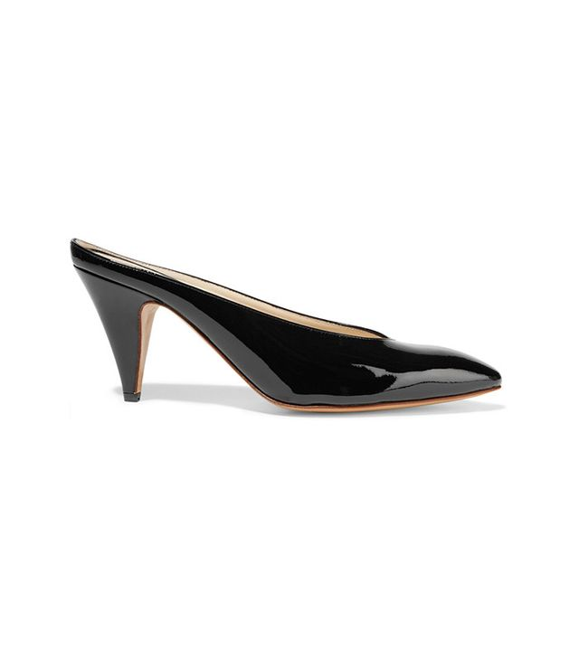 Mansur Gavriel Heel Slipper Patent-Leather Mules