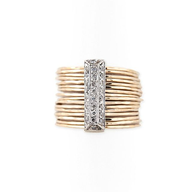 Jacquie Aiche Mixed Metals Brick Multi Waif Ring