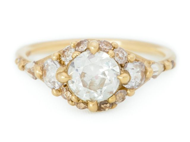 Polly Wales Diamond Cluster Split Halo Ring