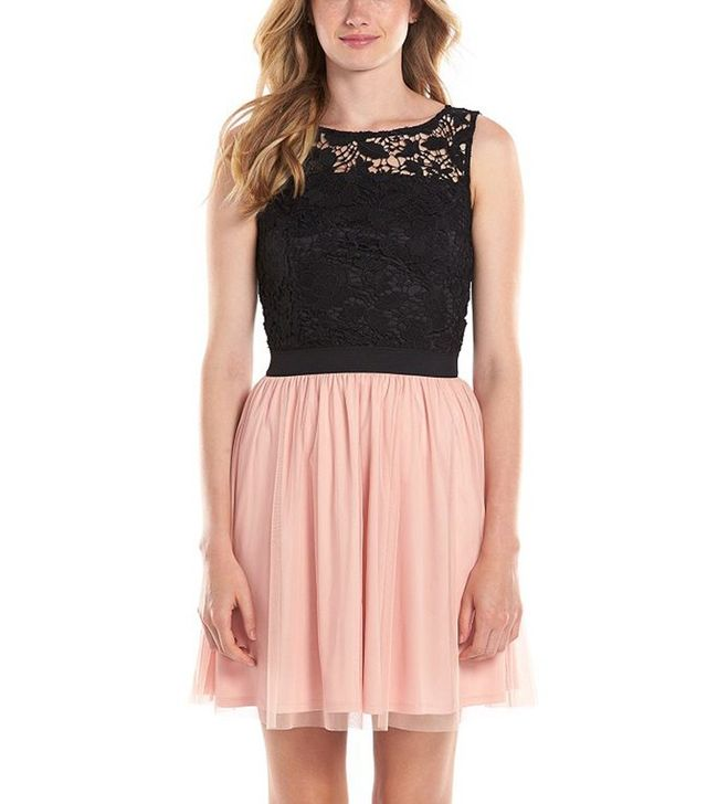 LC Lauren Conrad Lace Fit & Flare Dress