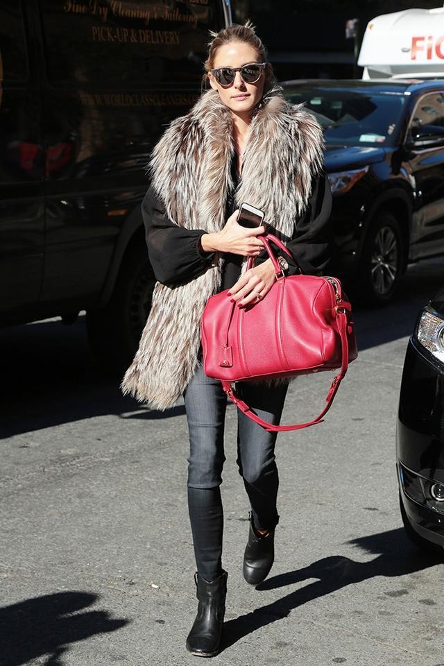 On Palermo: Louis Vuitton bag; Isabel Marant Étoile Cluster Boots(£540).