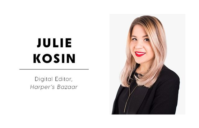 """WHO WHAT WEAR: What are some of the reactions you get when you tell people you're a social media editor?  JULIE KOSIN: I always get a gasp, and usually a """"wow"""" or """"that's..."""